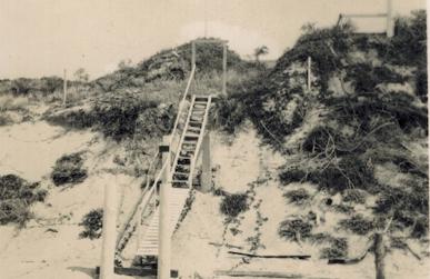 Vintage shot of Kings Beach Lookout