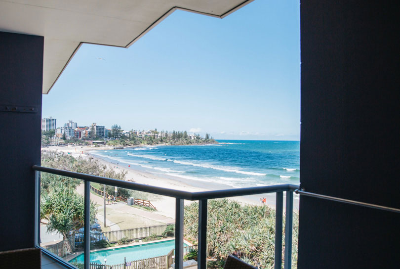 View from holiday apartments in Kings Beach, Caloundra QLD